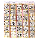 PUEEN 3D Nail Art Sticker Collection Set JH2 - 30 Packs All Different Designs (Over 700 Stickers) Black Glitter Rhinestones Skull Bikini Cross Nails D