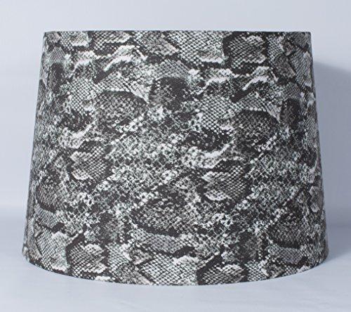 urbanest Schlangenleder Stoff Drum Lampenschirm, Spider Fitter, Polyester, mehrfarbig, 14-inch