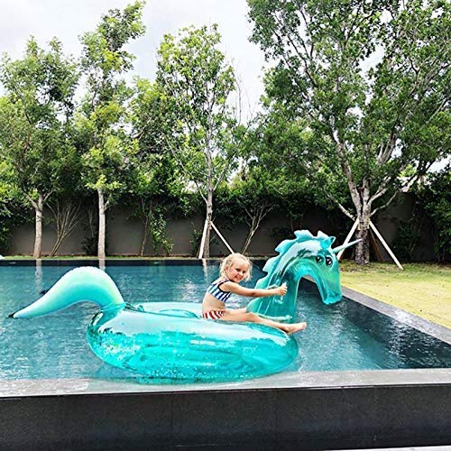 Vercico Unicron Pool Float 2019 Neue Aufblasbare Pool Floats für Erwachsene Riesigen Funkelnden Einhorn Pool Toy für Summer Party