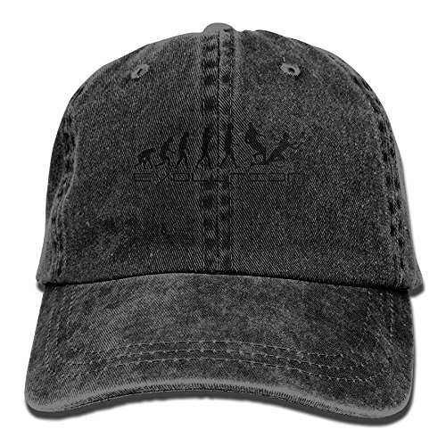MN.NM4554 Adult Cotton Adjustable Jean Cap Leisure Hats - Evolution of Man - Rugby (Fit Rugby Mesh Custom)