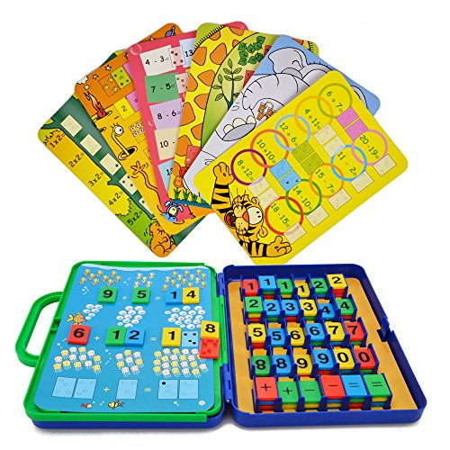 Number Counting Card Math Game - Hanmun JT17003 Colorful Cards of Arithmetic Count and Learn Number Match Preschool Learning Toy Gift for Kid 3+