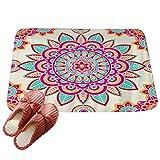 LvRaoo Rutschfest Fußabtreter Fußmatte Dekorativ Fußmatte Türmatte Schmutzfangmatte Home Décor - Mandala Blumendruck (# 6, 60*40cm)