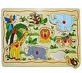 alles-meine.de GmbH Steckpuzzle mit Griffen - Zoo Tiere
