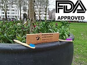 Spazzolino di bambù - Progettato dal Dr. Macau Chirurgo Orale - Protezione morbida e Gengivale - Confezione Value da 4 Conte