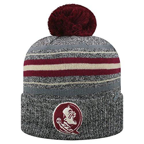 Top of the World Cuffed Knit Sock Hop Weihnachtsstrumpf Stretch Hat Cap Beanie Pom, Cuffed Knit - Pom Pom Cuffed Beanie