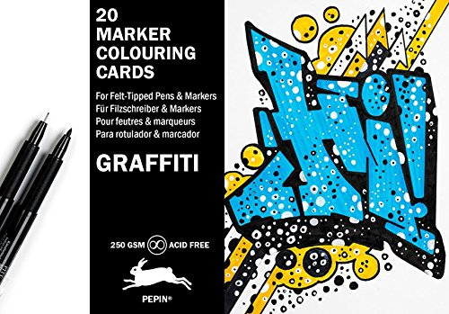 Graffiti Style: Marker Colouring Postcards: 20 marker colouring cards (Bücher über Graffiti)