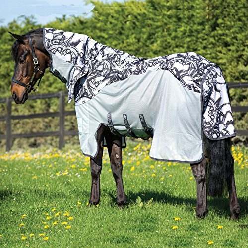 Horseware Amigo Three in One Vamoose Fly Rug 130 Silver/Black
