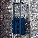 Handdoekenrek Medium Zwart   Handdoekhouder badkamer - Industrieel en handgemaakt - Gepoedercoat stalen handdoekenrek - 66x17