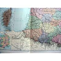 LE MAPPE 1893 GRANDE CORSICA DEL BACON AD OVEST DEL SUD DELLA FRANCIA
