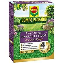 Tom de jardín Compo floranid® Césped abono contra las malas hierbas + musgo 4en 1