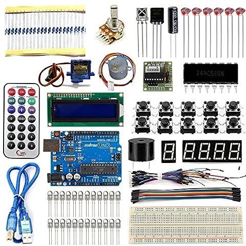 KOOKYE UNO R3 Board Project Basic Starter Kit for Arduino (20 In 1 Kit)