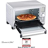 Rosenstein & Söhne Digitaler Mini Backofen: Digitaler Multifunktions-Backofen BO-1523 mit Automenüs, 23 l, 1.500 W (Pizzaofen)