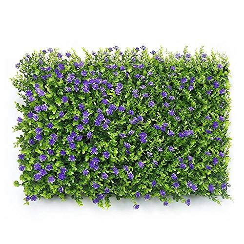KOBWA Künstliche Hecken Paneele - Outdoor Kunstpflanze - Indoor Hard Home Garden Outdoor Wand Dekoration - Verwendung ALS Grüne Wände oder Sichtschutz - Weihnachten Urlaub Dekoration 3