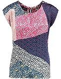 TAIFUN Bluse Kurzarm Blusenshirt mit Schleife am Rücken Tinte 36