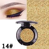 Glitter Lidschatten Monochrom Gold Pulver Mode Pigment Lidschatten Pulver...