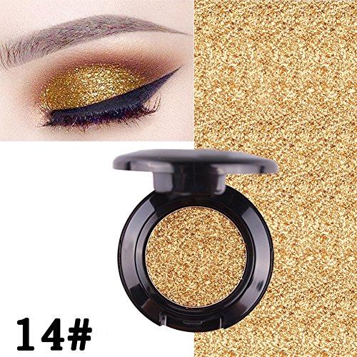 Oshide 9 Farben Makeup Lidschatten Eyeshadow glitzer Für ein natürliches oder gewagtes Augen-Make-up 14#