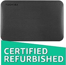 (CERTIFIED REFURBISHED) Toshiba Canvio 1TB Portable External Hard Drive (Black)