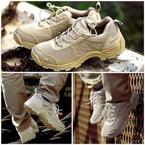 gratuit Soldat Rapid antidérapant Camping Randonnée Montagne tout-terrain Off-road Chaussures Désert Bottes Sand Color