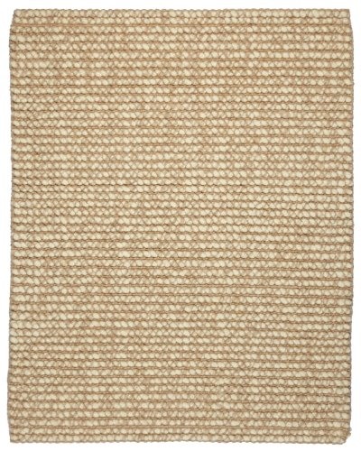 Preisvergleich Produktbild Anji Mountain AMB0308-0035 Zatar Ribbed Loop Pile Wool and Jute Area Rug, Natural, 3 x 5-Feet by Anji Mountain