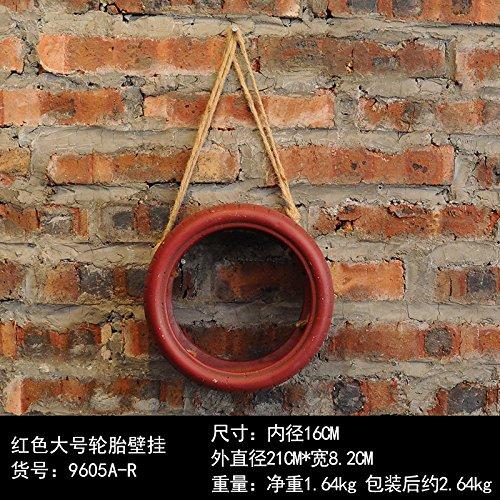 il-coffee-shop-e-decorato-le-pareti-del-portabiti-emulation-piante-pendenti-il-grande-rosso