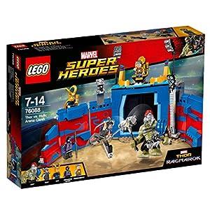 LEGO Super Heroes - Lucha por la Libertad en la Arena con Hulk y Thor, Juguete de Aventuras de Superhéroes Basado en la Película de Thor Ragnarok (76088)
