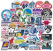 50Pcs NBA Team Logos American Basketball Stickers Pack PVC Waterproof Vinyl Skateboard Guitar Travel Case Stic