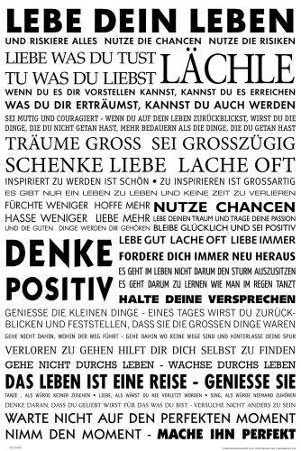 empireposter - Motivational - Lebe Dein Leben - Größe (cm), ca. 61x91,5 - Poster, NEU - - Motivations-poster