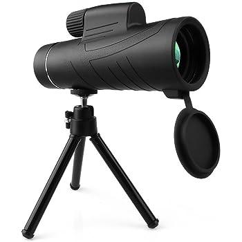 Monocolo Telescopico 10X42 Telescopio da Caccia HD Waterproof Portatile Visione Notturna con Adattatore per Telefono e Treppiede Osservazione Fauna Selvatica Concerti Eventi dal Vivo