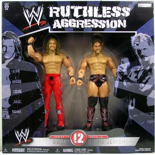 WWE Jakks Pacific Wrestling Ruthless Aggression Series 12 Action Figure 2Pack Edge Vs. Chris Jericho by WWE