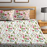 Bombay Dyeing Cynthia 120 TC Polycotton Double Bedsheet with 2 Pillow Covers - Red