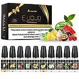 Salcar 10er Pack (10 x 10 ml) Premium Mix Fruchtgeschmack E-Liquids für E Zigaretten/E Shisha, 0,0 mg Nikotin
