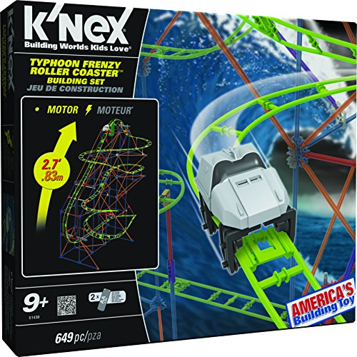 K'NEX 33115 – Thrill Rides – Typhoon Coaster – 649 Pieces – 9+ – Bau- und Konstruktionsspielzeug