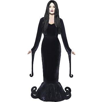 Ladies Morticia Addams Family Gothic Halloween Costume (Women: 8 ...