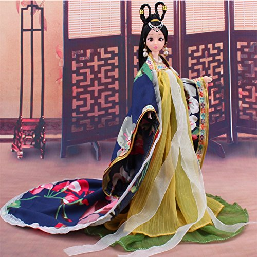 Zantec Traditionelle chinesische klassische Barbie Puppe Kostüm chinesische antike mythologische Kleidung Lieblings des Mädchens nur Kleidung Anna American Girl Puppe Kleidung