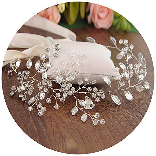 TOPQUEEN Braut Kristall Diadem Strass Perlen Krone Haarband für Hochzeit (HP65)