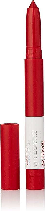 Maybelline New York Super Stay Crayon Lipstick, 45 Hustle in Heels, 1.2g