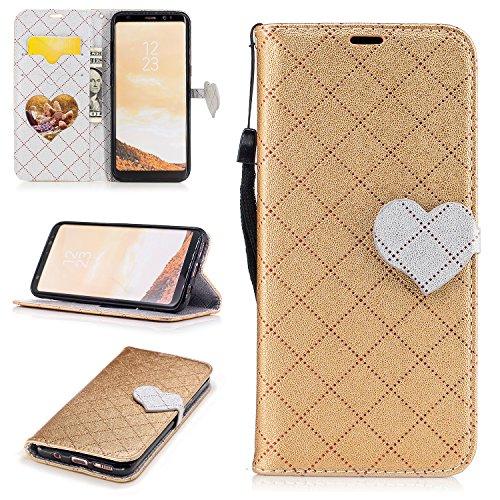 Cozy Hut Samsung S8 Hülle,Galaxy S8 Hülle Case, Liebe herzförmigen Muster Handyhülle/Lederhülle / Ledertasche/Hülle / Case/Cover / Etui/Tasche Silikon Schutzhülle Für Samsung Galaxy S8, PU Le