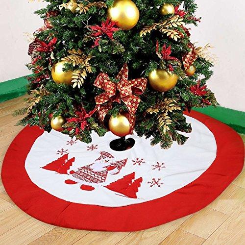 Decoración De Navidad Falda Del Árbol De Navidad Del Paño Del Bordado - 90cm De Diámetro