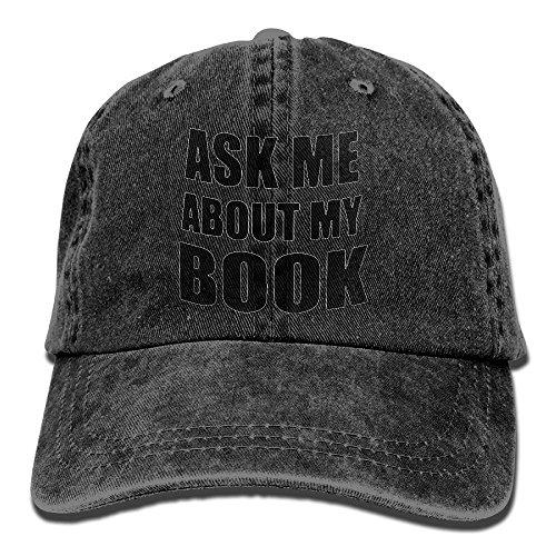 Preisvergleich Produktbild Ask Me About My Book Vintage Jeans Baseball Cap For Men And Women
