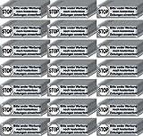 200 Stück Stop Bitte keine Werbung und kostenlose Zeitungen einwerfen Aufkleber Sticker Briefkasten