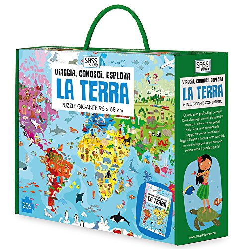 La terra. Viaggia, conosci, esplora. Libro puzzle. Ediz. a colori. Con gadget
