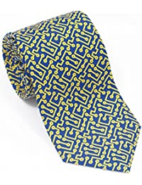 a23405230ba3 Josh Bach Mens Computer Circuits Silk Necktie in Blue, Made in USA