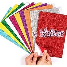 Jiada Self-Adhesive Glitter Foam Sheets Sticky Back Foam Sheets, Pack of 10