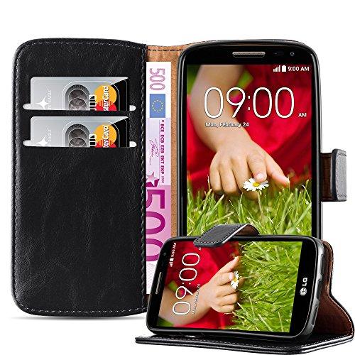 Gummi Lg Case G2 (LG G2 MINI Hülle in GRAPHIT SCHWARZ von Cadorabo - Handyhülle Luxury Design mit Magnetverschluss Standfunktion und Kartenfach für LG G2 MINI Case Cover Schutzhülle Etui Tasche Book Klapp Style)