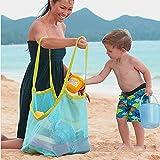 Minn Extra Große Strand Aufbewahrung Tasche Netz Sandspiel Netztasche für Sandspielzeug,Topbest Strand-Ineinander Greifen-Einkaufstasche Mesh Beach Bag Tote für Kinder Frauen Männer