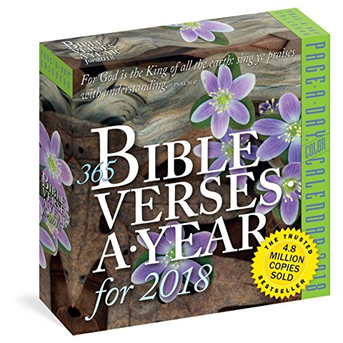 365 Bibel verses-a-year Farbe page-a-day Kalender 2018 [15,9 x 15,9 cm]