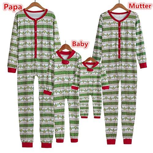enden Weihnachten Pyjama Set Dad Mom Baby Weihnachten Nachtwäsche Nachtwäsche Mann Frauen Kind Erwachsene Pyjamas Nachtwäsche Party passenden Familie Pyjamas Overall (S, Frauen/Grün) (Toy Story Familie Kostüme)
