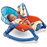 Baby Bucket Newborn to Toddler Portable Baby Rocker, Blue
