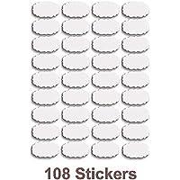 Angel Bear Waterproof Vinyl Stickers for Mason Jars Glass Bottle, Decals Craft, Kitchen Jar (Paper, 7 cm x 4 cm, White, 108 Piece)