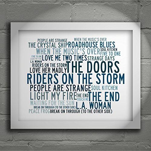 Preisvergleich Produktbild `Crystalline` Art Print - THE DOORS - Signed & Numbered Limited Edition Typography Unframed 25 x 20 cm (10 x 8 inch) Collectable Gift For Music Fan - Song Lyrics Poster